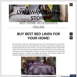 BUY BEST BED LINEN FOR YOUR HOME!