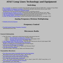 AT&T Long Lines Technology and Equipment