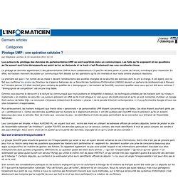 Piratage UMP : une opération salutaire ? > www.linformaticien.com : Actualités informatique, Réseau, Sécurité, Technologie, Développement