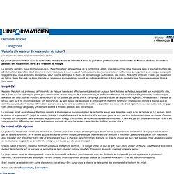 Volunia : le moteur de recherche du futur ? > www.linformaticien.com : Actualités informatique, Réseau, Sécurité, Technologie, Développement