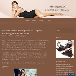 Simple Guide to Buying Sensual Lingerie According To Your Structure – Online Lingerie Store in Canada