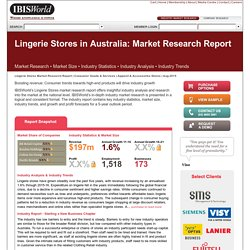 Lingerie Stores in Australia Market Research