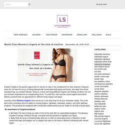 World-Class Women's Lingerie at the click of a button