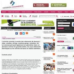Lingerie - Fiches conseils - cession-commerce.com