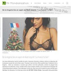 De la lingerie bio en sapin de Noël recyclé ? La France l'a fait !