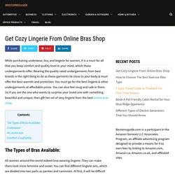 Get Cozy Lingerie From Online Bras Shop - BestemsGuide