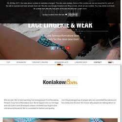 Lace lingerie. Women's sexy underwear. Handmade in Koniakow