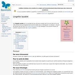 Lingette lavable