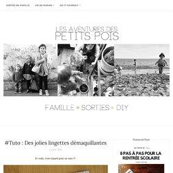 #Tuto : Des jolies lingettes démaquillantes - Les Aventures des Petits Pois