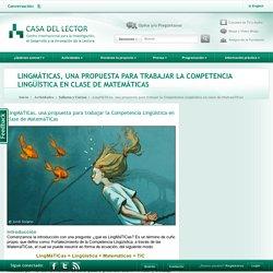 LingMáTICas, una propuesta para trabajar la Competencia Lingüística en clase de MatemáTICas