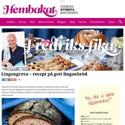 Lingongrova - recept på gott lingonbröd