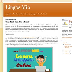 Lingos Mio: Simple Tips to Speak Chinese Fluently