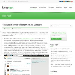 5 Valuable Twitter Tips for Content Curators