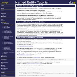 Named Entity Tutorial