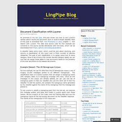 LingPipe Blog