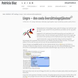 Lingro – den coola översättningstjänsten