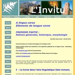 A lingua corsa - Eléments de langue