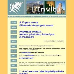 A lingua corsa - Eléments de langue corse 1