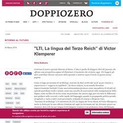 """""""LTI, La lingua del Terzo Reich"""" di Victor Klemperer"""