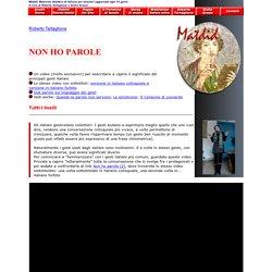 Non ho parole: il linguaggio dei gesti - Matdid, Materiali didattici di italiano per stranieri