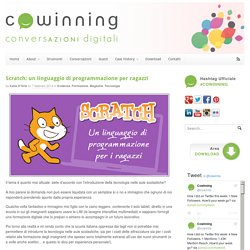 Scratch, un linguaggio di programmazione per i ragazzi