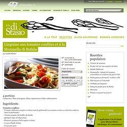 Linguine aux tomates confites et à la Mozzaella di Bufala