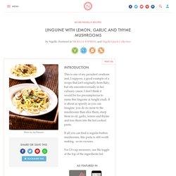 Linguine With Lemon, Garlic and Thyme Mushrooms