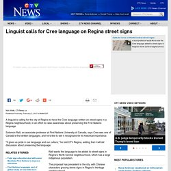 Street signs in Cree in Regina proposed