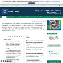 Linguistic intergration of Adult Migrants homepage