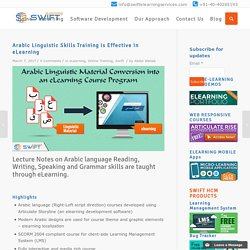 Arabic Linguistic Skills Training, multilingual e-learning solutions
