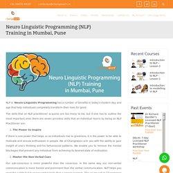 Neuro Linguistic Programming (NLP) Training in Mumbai, Pune