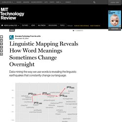 Linguistic Mapping Reveals How Word Meanings Sometimes Change Overnight