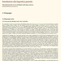 Linguistica generale un'introduzione.
