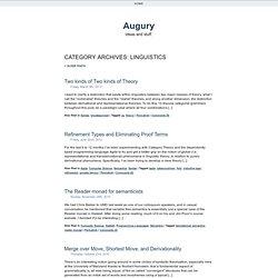 Augury - Ideas and stuff.