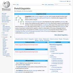 Portal:Linguistics