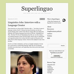 Linguistics Jobs: Interview with a Language...
