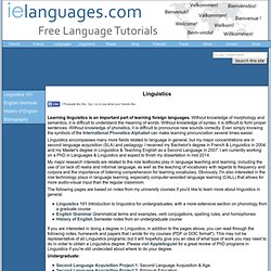 Linguistics: The Scientific Study of Human Language