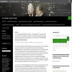 La notion de l'insécurité linguistique chez Pierre Bourdieu