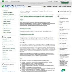 Linha BNDES de Apoio à Inovação - BNDES Inovação