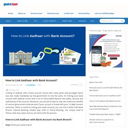 How to Link Aadhaar with Bank Account?