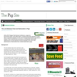 PIGSITE 28/01/15 The Link Between Feed and Salmonella in Pigs
