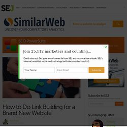 How to Do Link Building for a Brand New Website