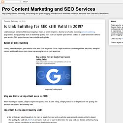 Is Link Building for SEO still Valid in 2019?