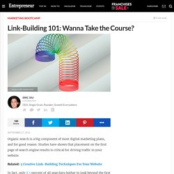 Link-Building 101: Wanna Take the Course?