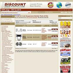 Jeep Long Arm Conversion Kits, 3 Link & 4 Link Jeep Builder Parts - Discount Jeep Parts.com