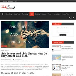 Link Echoes And Link Ghosts: How Do They Affect Your SEO?