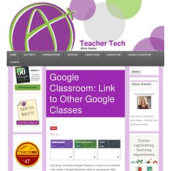Link to Other Google Classes
