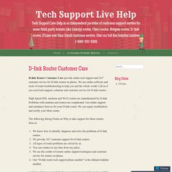 D-link Router Customer Care