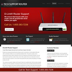 D-Link Router Support @ 1-855-383-7238 by Tech Support Router