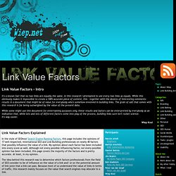 Link Value Factors